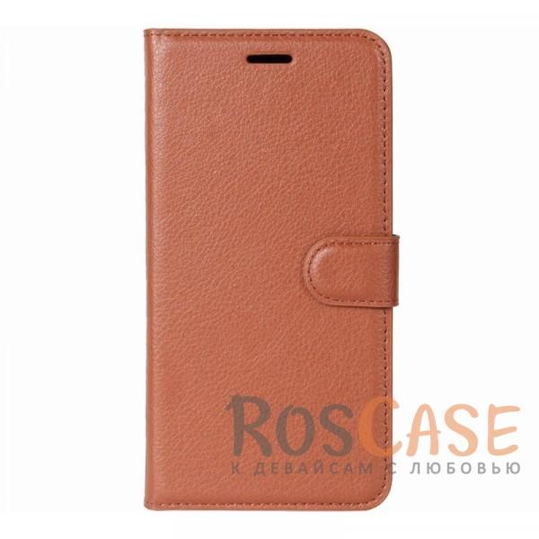 Гладкий кожаный чехол-бумажник на магнитной застежке Wallet с функцией подставки и внутренними карманами для Xiaomi Mi 5X / Mi A1 (Коричневый)Описание:совместимость - Xiaomi Mi 5X / Mi A1;материалы  -  искусственная кожа, TPU;форма  -  чехол-книжка;фактурная поверхность;предусмотрены все функциональные вырезы;кармашки для визиток/кредитных карт/купюр;магнитная застежка;защита от механических повреждений.<br><br>Тип: Чехол<br>Бренд: Epik<br>Материал: Искусственная кожа