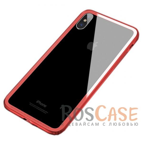 Тонкий силиконовый бампер Baseus Hard And Soft с прочными пластиковыми бортиками для защиты экрана для Apple iPhone X (5.8) (Красный)Описание:бренд - Baseus;материалы - термополиуретан, пластик;совместимость -&amp;nbsp;Apple iPhone X (5.8);формат - бампер;защита всех граней;предусмотрены все вырезы;выступающие бортики.<br><br>Тип: Чехол<br>Бренд: Baseus<br>Материал: TPU