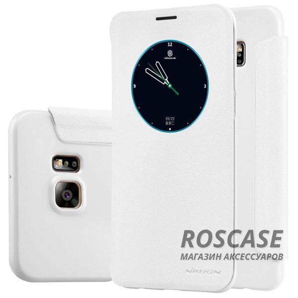 Кожаный чехол (книжка) Nillkin Sparkle Series для Samsung Galaxy S6 Edge Plus (Белый)Описание:бренд -&amp;nbsp;Nillkin;совместим с Samsung Galaxy S6 Edge Plus;материал - кожзам;тип: книжка.&amp;nbsp;Особенности:функция Sleep mode;окошко в обложке;блестящая поверхность;защита со всех сторон.<br><br>Тип: Чехол<br>Бренд: Nillkin<br>Материал: Искусственная кожа