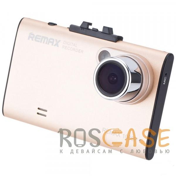 Фото Золотой Remax DVR CX-01 | Компактный видеорегистратор в автомобиль на присоске (Full HD (1920x1080)