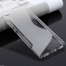 Матовый силиконовый чехол с S-образным глянцевым узором для Huawei Ascend P8