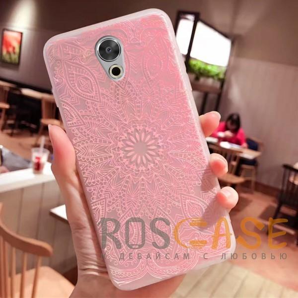 Фото Узор Розовый Силиконовый матовый чехол с принтом для Meizu Pro 6 Plus