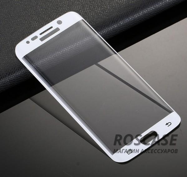 Противоударное закаленное стекло 0.2mm с защитой на весь экран Samsung G925F Galaxy S6 Edge (2.5D) (Белый)Описание:идеально подходит для Samsung G925F Galaxy S6 Edge;материал: закаленное стекло;тип: стекло на экран.&amp;nbsp;Особенности:закругленные грани 2.5D;ультратонкое  -  0,2 мм;прочность  -  9H;закрывает весь экран, в том числе боковые закругления;ударопрочное;олеофобное покрытие;цветная окантовка;защищает от царапин.<br><br>Тип: Защитное стекло<br>Бренд: Epik