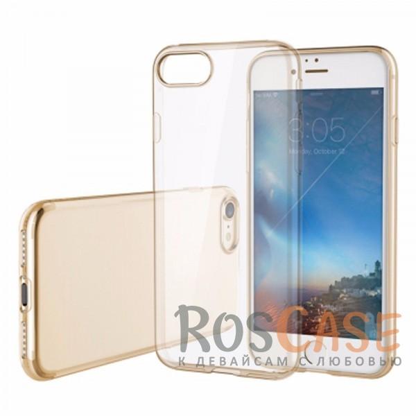 TPU чехол ROCK Slim Jacket для Apple iPhone 7 plus (5.5) (Золотой / Transparent Gold)Описание:производитель  -  Rock;совместим с Apple iPhone 7 plus (5.5);материал  -  термополиуретан;тип  -  накладка.&amp;nbsp;Особенности:ультратонкая;прозрачная;не скользит;разъемы учитывают все функции;легко устанавливается;легко очищается;защищает от царапин и ударов.<br><br>Тип: Чехол<br>Бренд: ROCK<br>Материал: TPU