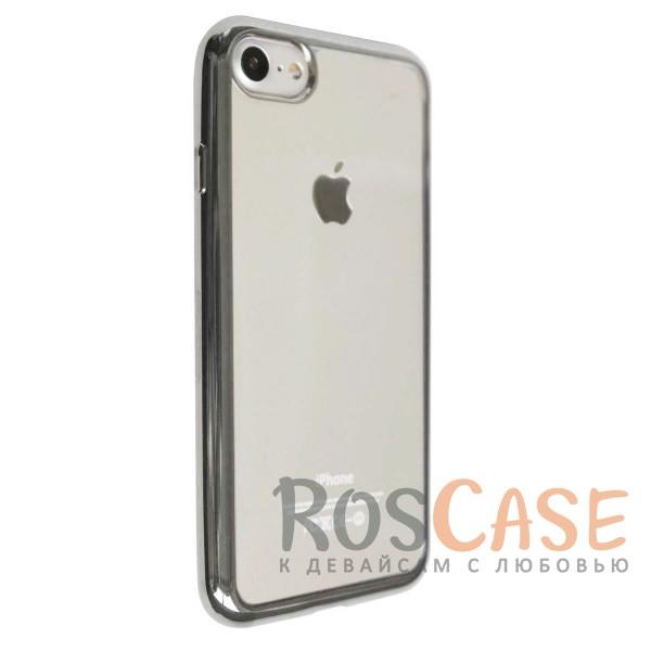 """Изображение Серый Силиконовый чехол для Apple iPhone 7 / 8 (4.7"""") с глянцевой окантовкой"""