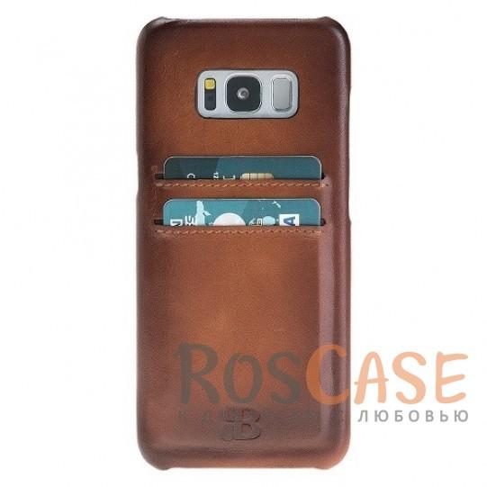 Фото Премиальная накладка из натуральной кожи с отделениями под пластиковые карты для Samsung Galaxy S8 Plus (G955)
