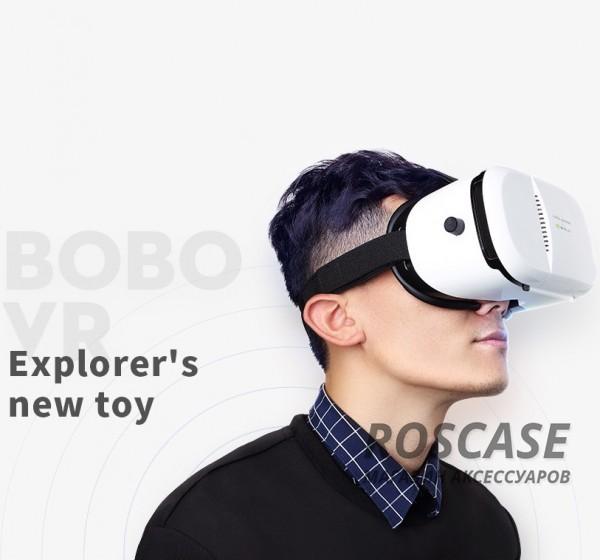 Очки виртуальной реальности Rock Bobo VR (Белый / White)Описание:производитель  -  Rock;совместимы с iOS 9, Android 4.4 и выше;материал  -  пластик с гладкой поверхностью;тип устройства  -  очки виртуальной реальности;Особенности:позволяют смотреть фильмы, играть в игры в 3D и т. п.;размеры -&amp;nbsp; 220 х 130 х 107мм;асферические линзы;система вентиляции;регулируется ширина между линзами и фокуса под каждый глаз;фиксируется на голове мягкими ремнями.<br><br>Тип: Общие аксессуары<br>Бренд: ROCK
