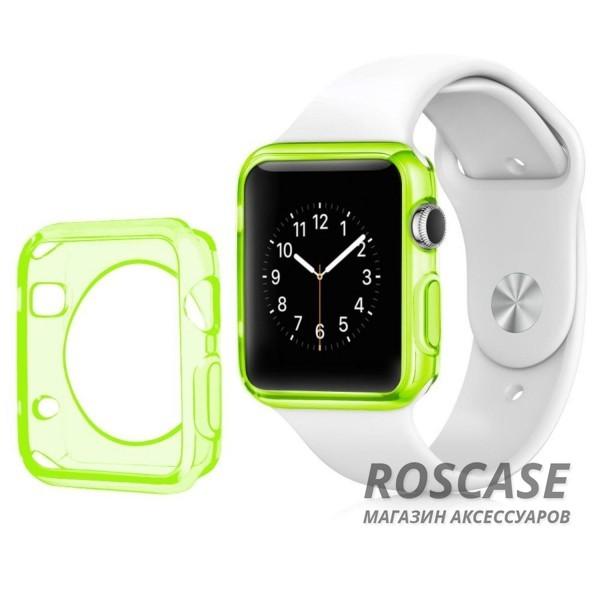 TPU чехол для Apple watch 38mm (Зеленый (матово/прозрачный))Описание:производитель - бренд&amp;nbsp;Epik;разработан для&amp;nbsp;Apple watch 38mm;материал: термополиуретан;тип: накладка.Особенности:тонкий дизайн;легкая фиксация;защита от царапин;эластичный;не деформируется.<br><br>Тип: Чехол<br>Бренд: Epik<br>Материал: TPU