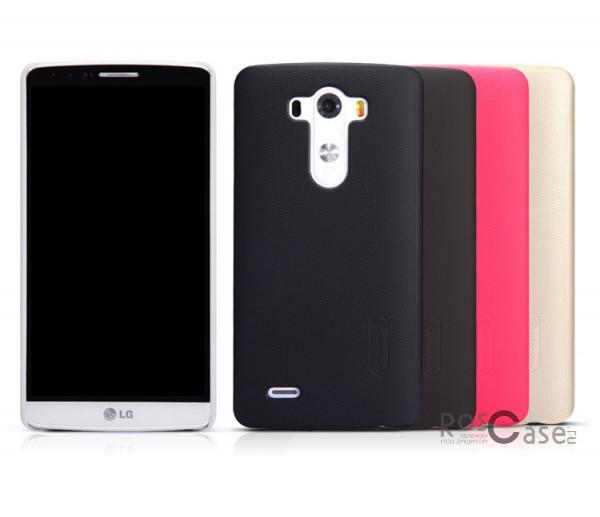 Чехол Nillkin Matte для LG D855/D850/D856 Dual G3 (+ пленка)Описание:компания- производитель: Nillkin;совместим с LG D855/D850/D856 Dual G3;используемые материалы: пластик;форма чехла: накладка.&amp;nbsp;Особенности:текстурированная поверхность;надежная фиксация;предусмотрен полный набор функциональных вырезов;не скользит;бонусная пленка для экрана;плотное прилегание;визуально не увеличивает габариты устройства.<br><br>Тип: Чехол<br>Бренд: Nillkin<br>Материал: Поликарбонат
