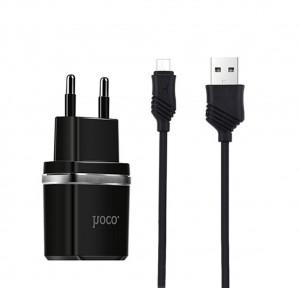 Зарядное устройство HOCO C12 2USB 2.4A + кабель Micro USB для Samsung Galaxy J7 2017 (J730)