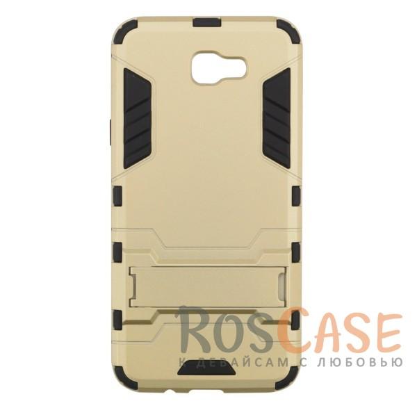 Ударопрочный чехол-подставка Transformer для Samsung G570F Galaxy J5 Prime с мощной защитой корпуса (Золотой / Champagne Gold)Описание:ударопрочный аксессуар с функцией подставки;чехол разработан для Samsung G570F Galaxy J5 Prime;материалы - термополиуретан, поликарбонат;тип - накладка.<br><br>Тип: Чехол<br>Бренд: Epik<br>Материал: TPU