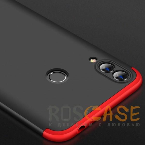 Фотография Черный / Красный GKK LikGus 360° | Двухсторонний чехол для Huawei Honor 8C с защитными вставками