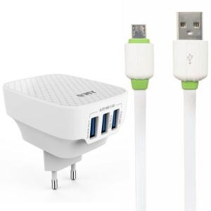 "EMY MY-265 | Сетевое зарядное устройство (3USB 3.4A) + кабель MicroUSB для Apple iPhone 7 Plus (5.5"")"
