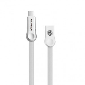 "Nillkin Plus 3 | Плоский кабель с разъемами MicroUSB и Type-C для Apple iPhone 8 (4.7"")"