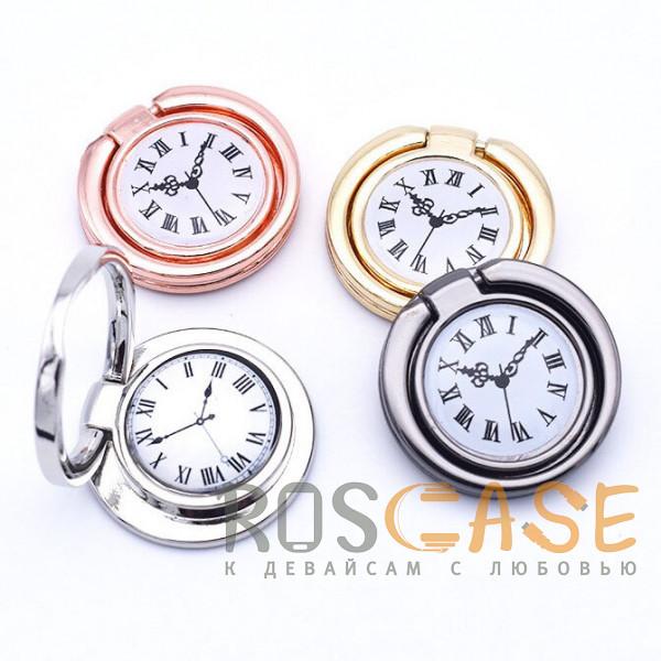 """Фотография Универсальный магнитный держатель с кольцом для телефона """"Часы"""""""