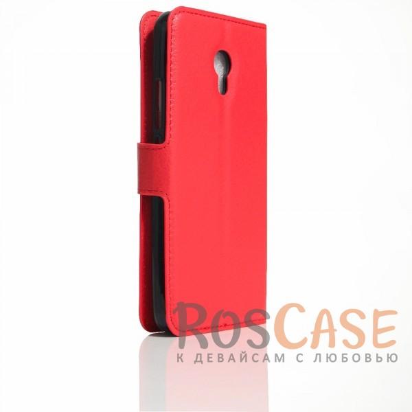 Фотография Красный Wallet | Кожаный чехол-кошелек с внутренними карманами для Meizu M5