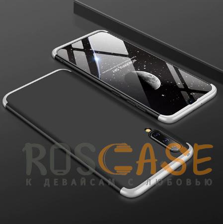 Фотография Черный / Серебряный GKK LikGus 360° | Двухсторонний чехол для Samsung Galaxy A50 с защитными вставками