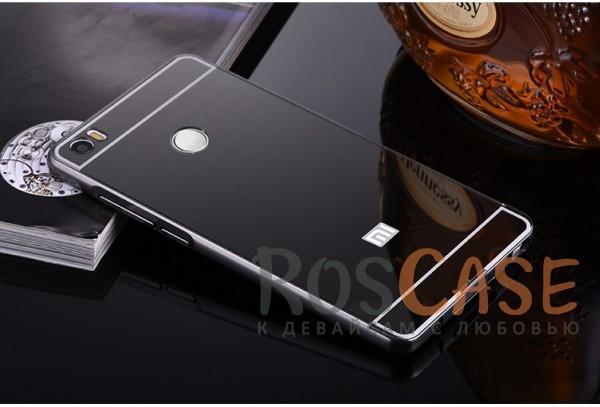 Металлический бампер с акриловой вставкой с зеркальным покрытием для Xiaomi Mi Max (Черный)Описание:разработан для Xiaomi Mi Max;материалы - металл, акрил;тип - бампер с задней панелью.<br><br>Тип: Чехол<br>Бренд: Epik<br>Материал: Металл