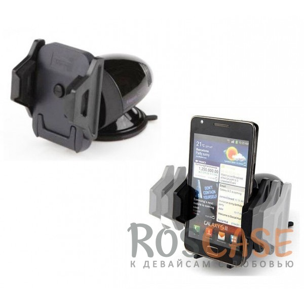Автодержатель для смартфонов 3-5.3 дюймов на торпеду Kropsson HR-S200 II