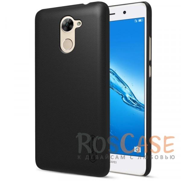 Матовый чехол для Huawei Y7 Prime (+ пленка) (Черный)Описание:бренд&amp;nbsp;Nillkin;совместимость: Huawei Y7 Prime;материал: поликарбонат;тип: накладка;закрывает заднюю панель и боковые грани;защищает от ударов и царапин;рельефная фактура;не скользит в руках;ультратонкий дизайн;защитная плёнка на экран в комплекте.<br><br>Тип: Чехол<br>Бренд: Nillkin<br>Материал: Поликарбонат