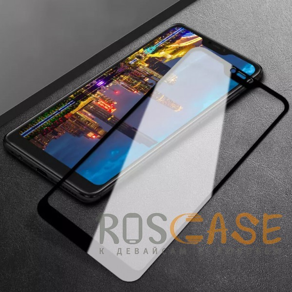 Фото Черное 5D защитное стекло для Xiaomi Mi 8 Lite / Mi 8 Youth (Mi 8X) на весь экран