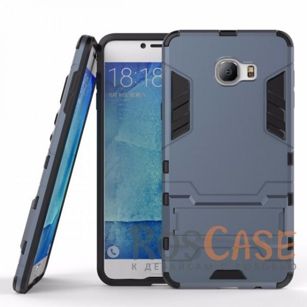 Ударопрочный чехол-подставка Transformer для Samsung Galaxy C7 с мощной защитой корпуса (Серый / Metal slate)Описание:подходит для Samsung Galaxy C7;материалы: термополиуретан, поликарбонат;формат: накладка.&amp;nbsp;Особенности:функциональные вырезы;функция подставки;двойная степень защиты;защита от механических повреждений;не скользит в руках.<br><br>Тип: Чехол<br>Бренд: Epik<br>Материал: TPU