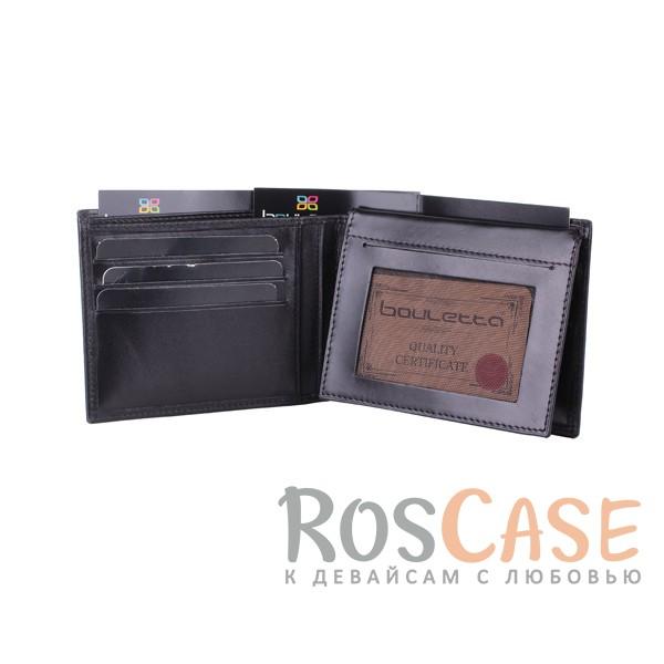 Фотография Мужской кошелек из натуральной кожи с внешним карманом и откидным отделением для водительских прав