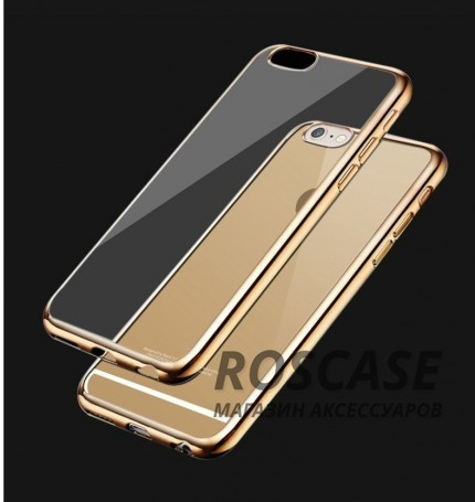 Прозрачный силиконовый чехол для Apple iPhone 6/6s (4.7) с глянцевой окантовкой (Золотой)Описание:подходит для Apple iPhone 6/6s (4.7);материал - силикон;тип - накладка.Особенности:глянцевая окантовка;прозрачный центр;гибкий;все вырезы в наличии;не скользит в руках;ультратонкий.<br><br>Тип: Чехол<br>Бренд: Epik<br>Материал: Силикон