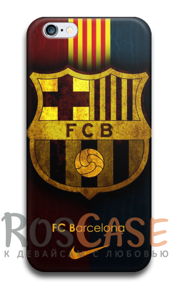 """Фото Барселона №2 Пластиковый чехол RosCase """"Футбольные команды"""" для iPhone 5C"""