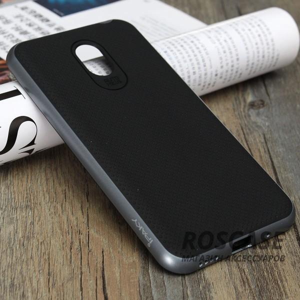 Чехол iPaky TPU+PC для Meizu M2 Note (Черный / Серый)Описание:производитель - iPaky;совместим с Meizu M2 Note;материал: термополиуретан, поликарбонат;форма: накладка на заднюю панель.Особенности:эластичный;рельефная поверхность;прочная окантовка;ультратонкий;надежная фиксация.<br><br>Тип: Чехол<br>Бренд: Epik<br>Материал: TPU
