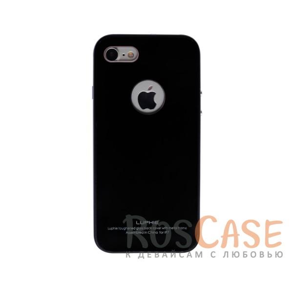 Металлический бампер Luphie с акриловой вставкой для Apple iPhone 7 (4.7) (Черный / Черный)Описание:бренд -&amp;nbsp;Luphie;материал - алюминий, акриловое стекло;совместим с Apple iPhone 7 (4.7);тип - бампер со вставкой.Особенности:акриловая вставка;прочный алюминиевый бампер;в наличии все вырезы;ультратонкий дизайн;защита устройства от ударов и царапин.<br><br>Тип: Чехол<br>Бренд: Luphie<br>Материал: Металл