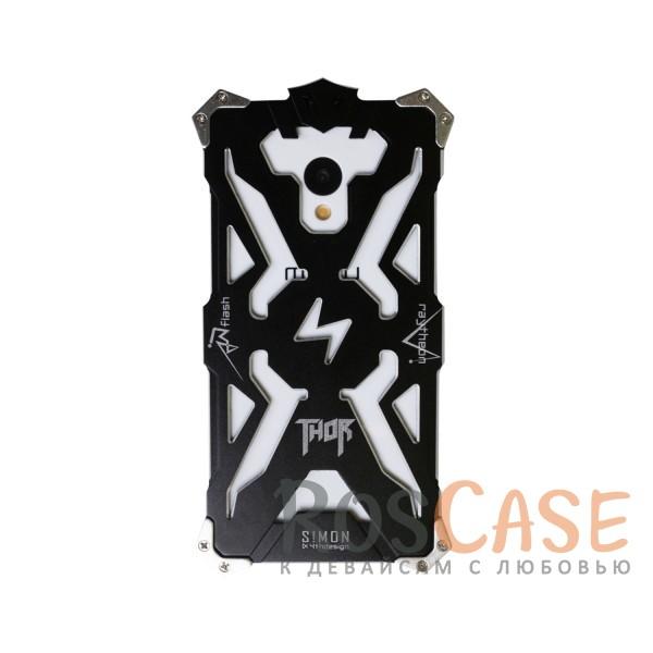 Противоударный чехол из авиационного алюминия на винтах Thor для Meizu M3 / M3 mini / M3s (Черный)<br><br>Тип: Чехол<br>Бренд: Epik<br>Материал: Металл