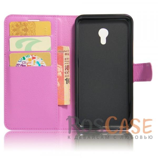 Изображение Фиолетовый Wallet   Кожаный чехол-кошелек с внутренними карманами для Meizu M5
