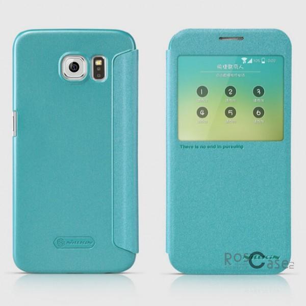 Кожаный чехол (книжка) Nillkin Sparkle Series для Samsung Galaxy S6 G920F/G920D Duos (Бирюзовый)Описание:бренд -&amp;nbsp;Nillkin;совместим с Samsung Galaxy S6 G920F/G920D Duos;материал: кожзам;тип: чехол-книжка.Особенности:защита от механических повреждений;не скользит в руках;интерактивное окошко;функция Sleep mode;не выгорает;тонкий дизайн.<br><br>Тип: Чехол<br>Бренд: Nillkin<br>Материал: Натуральная кожа