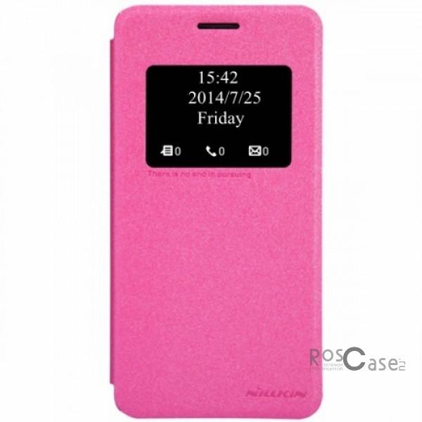 Кожаный чехол (книжка) Nillkin Sparkle Series для Asus Zenfone 5 (A501CG) (Розовый)Описание:Изготовлен компанией&amp;nbsp;Nillkin;Спроектирован персонально для Asus Zenfone 5&amp;nbsp;(A501CG);Материал: синтетическая кожа и полиуретан;Форма: чехол в виде книжки.Особенности:Исключается появление царапин и возникновение потертостей;Восхитительная амортизация при любом ударе;Фактурная поверхность;Удобное интерактивное окошко;Не подвергается деформации;Непритязателен в уходе.<br><br>Тип: Чехол<br>Бренд: Nillkin<br>Материал: Искусственная кожа