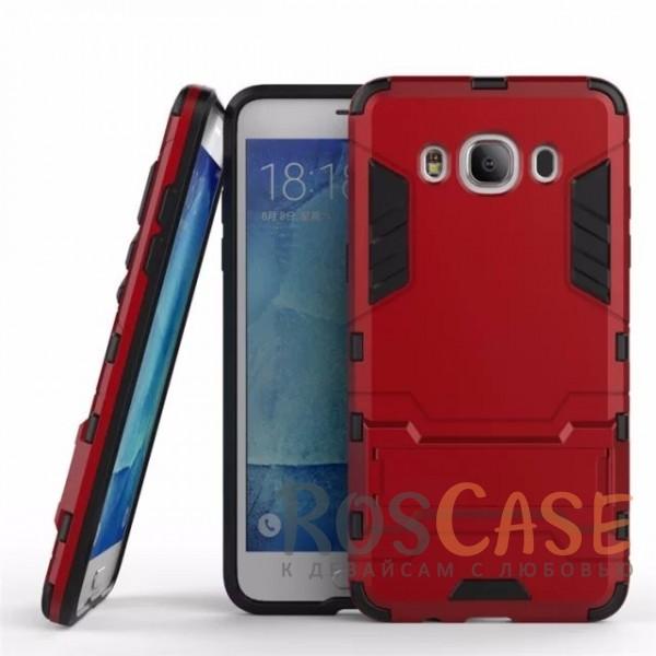 Ударопрочный чехол-подставка Transformer для Samsung J510F Galaxy J5 (2016) с мощной защитой корпуса (Красный / Dante Red)Описание:подходит для Samsung J510F Galaxy J5 (2016);материалы: термополиуретан, поликарбонат;формат: накладка.&amp;nbsp;Особенности:функциональные вырезы;функция подставки;двойная степень защиты;защита от механических повреждений;не скользит в руках.<br><br>Тип: Чехол<br>Бренд: Epik<br>Материал: TPU