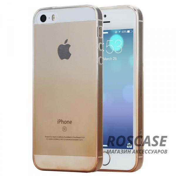 TPU чехол ROCK Iris series для Apple iPhone 5/5S/SE (Золотой / Transparent Gold)Описание:производитель  -  Rock;форм-фактор  -  чехол-накладка;материалы  -  термополиуретан (TPU);совместим с Apple iPhone 5/5S/SE.Особенности:тип защиты  -  бортики, тыльная панель;выемки под внешние порты, камеру, колонку, регулятор громкостилегкая очистка;тонкий дизайн.<br><br>Тип: Чехол<br>Бренд: ROCK<br>Материал: TPU
