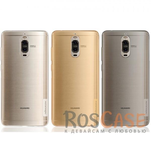 Мягкий прозрачный силиконовый чехол для Huawei Mate 9 ProОписание:бренд:&amp;nbsp;Nillkin;совместимость: Huawei Mate 9 Pro;материал: термополиуретан;тип: накладка;ультратонкий дизайн;прозрачный корпус;не скользит в руках;защищает от механических повреждений.<br><br>Тип: Чехол<br>Бренд: Nillkin<br>Материал: TPU