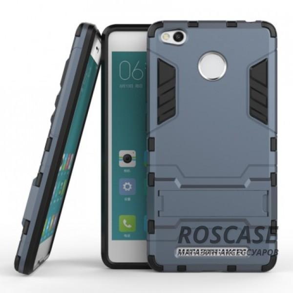 Ударопрочный чехол-подставка Transformer для Xiaomi Redmi 3 Pro / Redmi 3s с мощной защитой корпуса (Серый / Metal slate)Описание:подходит для Xiaomi Redmi 3 Pro / Redmi 3s;материалы: термополиуретан, поликарбонат;формат: накладка.&amp;nbsp;Особенности:функциональные вырезы;функция подставки;двойная степень защиты;защита от механических повреждений;не скользит в руках.<br><br>Тип: Чехол<br>Бренд: Epik<br>Материал: TPU