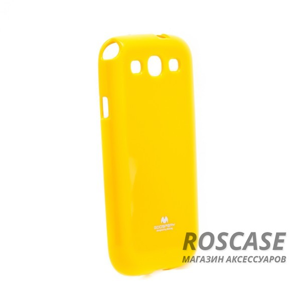 фото Желтый TPU чехол Mercury Jelly Color series для Samsung i9300 Galaxy S3