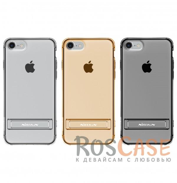 TPU чехол Nillkin Crashproof 2 Case Series с функцией подставки для Apple iPhone 7 (4.7)Описание:компания  - &amp;nbsp;Nillkin;совместим с Apple iPhone 7 (4.7);материал  -  термополиуретан;формат  -  накладка.&amp;nbsp;Особенности:выступы над экраном и камерой;ударопрочный;функция подставки;защита от ударов, пыли и царапин;прозрачный.<br><br>Тип: Чехол<br>Бренд: Nillkin<br>Материал: TPU