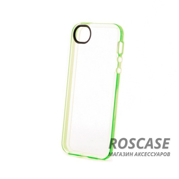 Изображение Зеленый / Green TPU чехол ROCK Joyful Series для Apple iPhone 5/5S/SE
