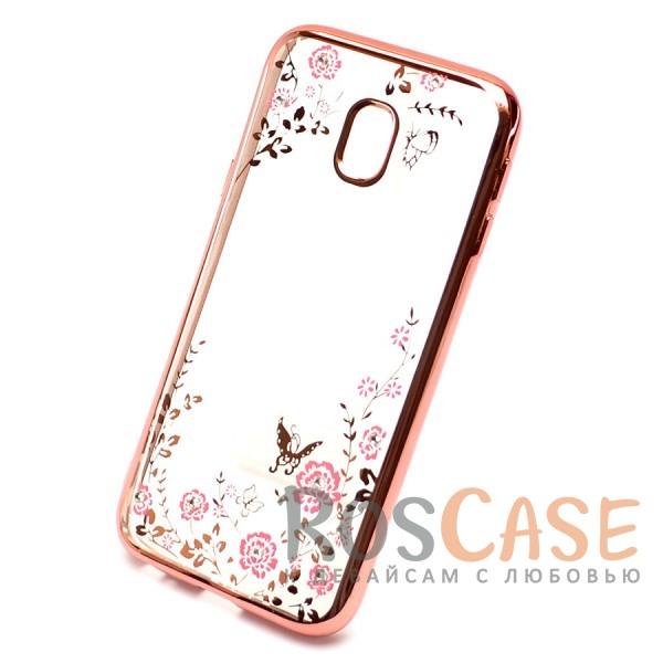 Прозрачный чехол с цветами и стразами для Samsung J730 Galaxy J7 (2017) с глянцевым бампером (Розовый золотой/Розовые цветы)Описание:совместимость - Samsung J730 Galaxy J7 (2017);глянцевая окантовка, цветочный узор;материал - TPU;тип - накладка;защита от царапин, трещин, ударов;легко устанавливается;не скользит в руках;не заметны отпечатки пальцев;все необходимые функциональные вырезы.<br><br>Тип: Чехол<br>Бренд: Epik<br>Материал: TPU