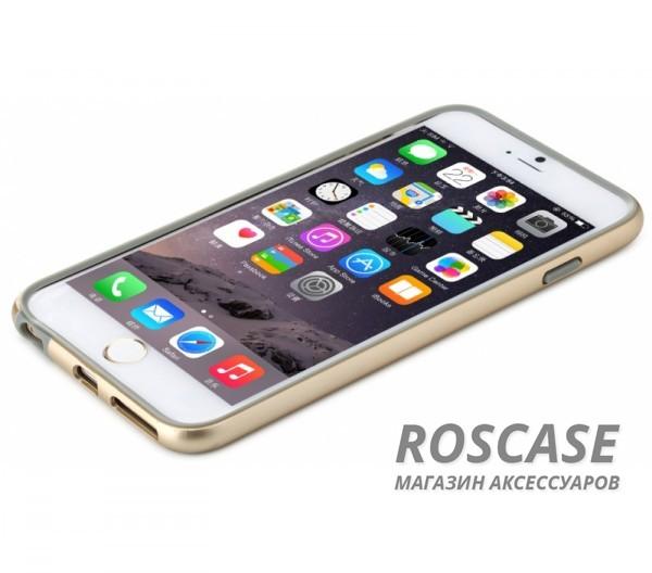 Бампер ROCK Duplex Slim Guard для Apple iPhone 6/6s plus (5.5) (Золотой / Champagne gold)Описание:производитель  - &amp;nbsp;Rock;создан специально для Apple iPhone 6/6s plus (5.5);материал - поликарбонат, термополиуретан;защищает боковые части аппарата.Особенности:ультратонкий, всего 2 мм;представлен в широком цветовом диапазоне;простая установка;обладает высоким уровнем устойчивости к внешним воздействиям.<br><br>Тип: Чехол<br>Бренд: ROCK<br>Материал: Натуральная кожа