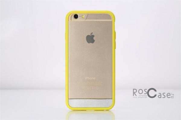 TPU+PC чехол Rock Enchanting Series для Apple iPhone 6/6s plus (5.5) (Желтый / Yellow)Описание:компания-производитель  - &amp;nbsp;Rock;разработан специально для&amp;nbsp;Apple iPhone 6/6s plus (5.5);материалы  -  полиуретан, поликарбонат;тип  -  накладка.&amp;nbsp;Особенности:ультратонкий;поликарбонатная окантовка;все функциональные вырезы в наличии;легко очищается;не скользит в руках;защищает от ударов и царапин;не трескается.<br><br>Тип: Чехол<br>Бренд: ROCK<br>Материал: TPU