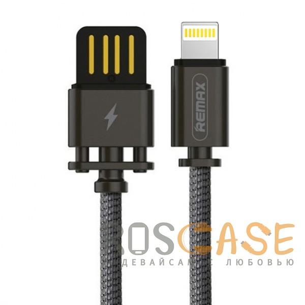 Фото Черный Remax Dominator RC-064i | Дата кабель с функцией быстрой зарядки в тканевой оплетке USB to Lightning (100см)