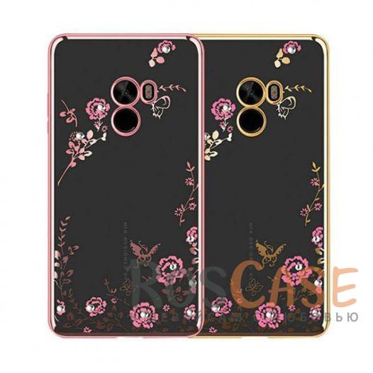 Прозрачный чехол с цветами и стразами для Xiaomi Mi MIX с глянцевым бамперомОписание:совместим с Xiaomi Mi MIX;глянцевая окантовка, цветочный узор;материал - TPU;тип - накладка.<br><br>Тип: Чехол<br>Бренд: Epik<br>Материал: TPU