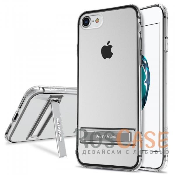 Прозрачный силиконовый чехол Nillkin Crashproof 2 с подставкой и усиленной защитой углов для Apple iPhone 7 / 8 (4.7) (Бесцветный (прозрачный))Описание:компания  - &amp;nbsp;Nillkin;совместим с Apple iPhone 7 / 8 (4.7);материал  -  термополиуретан;формат  -  накладка.&amp;nbsp;Особенности:выступы над экраном и камерой;ударопрочный;функция подставки;защита от ударов, пыли и царапин;прозрачный.<br><br>Тип: Чехол<br>Бренд: Nillkin<br>Материал: TPU