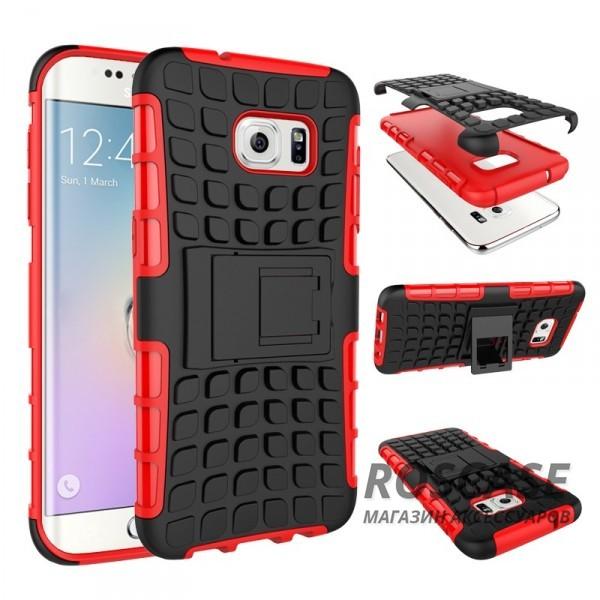 Противоударный двухслойный чехол Shield для Samsung G930F Galaxy S7 с подставкой (Красный)Описание:разработан специально для Samsung G930F Galaxy S7;материалы: поликарбонат, термополиуретан;тип: накладка.&amp;nbsp;Особенности:двухслойный;ударопрочный;оригинальный дизайн;стильный дизайн;в наличии все функциональные вырезы;функция подставки.<br><br>Тип: Чехол<br>Бренд: Epik<br>Материал: TPU
