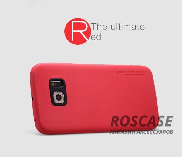 Чехол накладка Nillkin Victoria Series для Samsung G925F Galaxy S6 Edge (Красный)Описание:производитель  -  фирма&amp;nbsp;Nillkin;разработан специально для Samsung G925F Galaxy S6 Edge;материал  -  искусственная кожа;тип  -  накладка.&amp;nbsp;Особенности:мягкая на ощупь;все функциональные вырезы на своих местах;не остаются отпечатки пальцев;тонкий дизайн;защищает от царапин и падений;не скользит.<br><br>Тип: Чехол<br>Бренд: Nillkin<br>Материал: Искусственная кожа